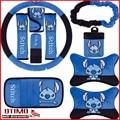 Cute Cartoon Stitch Car Auto Gear Shift Collars Lilo Stitch Gear Shift Knob Hand Brake Rearview Mirror Cover Lovely Set 10 Pcs