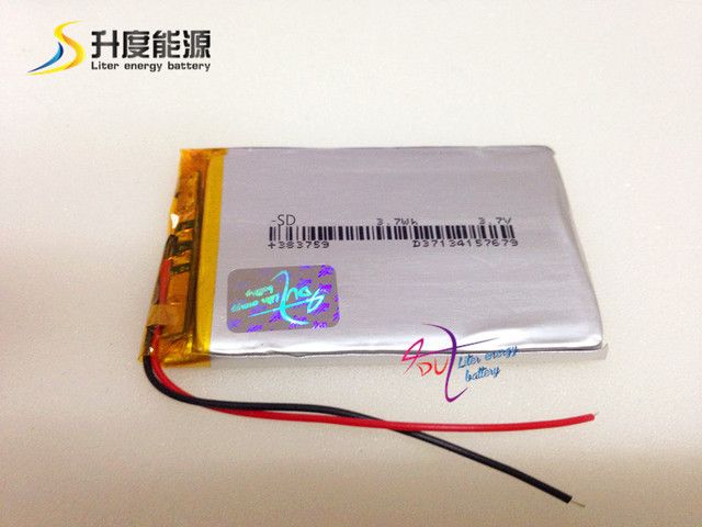 3.7v 900mah 383759 rechargeable battery li-ion for RC Toy/Medical/Cell Phone