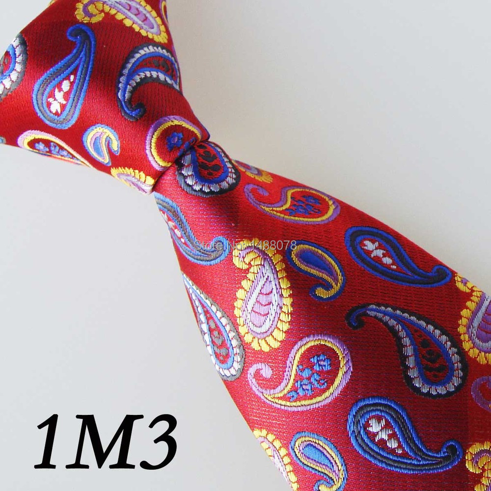 Red Paisley Ties 1M3