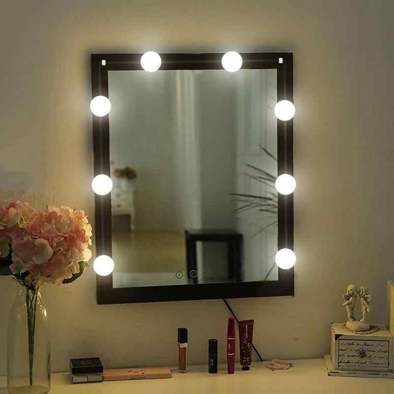 10 stücke LED Make-Up Spiegel Glühbirne Hollywood Spiegel Lampe Licht String Dressing Tisch Füllen Licht Kalt Licht Farbe DC runde Kopf