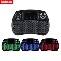 2 4GHz Wireless Mini Keyboard Touchpad Mouse 3 Colors LED Backlight For Android TV Box Fly
