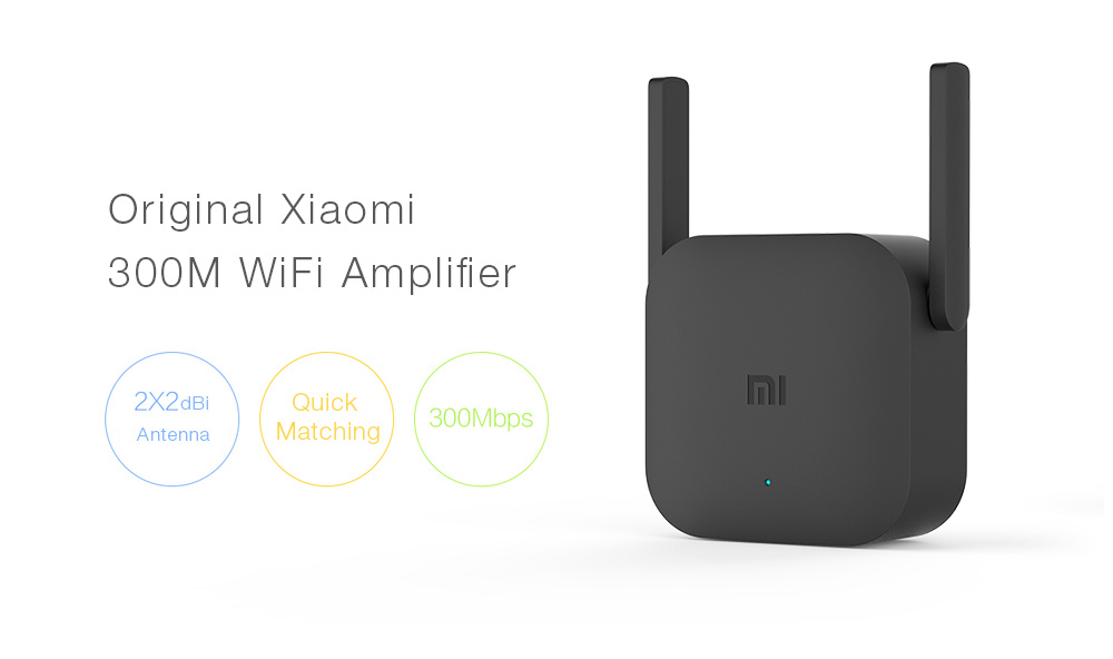 Original Xiaomi Pro 300M WiFi Router Amplifier Network Expander Repeater  Power Extender Roteador 2 Antenna for Mi Router Wi-Fi