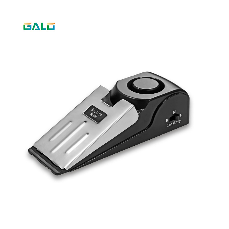 GALO 125 dB Anti-theft Burglar Stop System Security Home Wedge Shaped Door Stop Stopper Alarm Block Blocking System new 120db door stop alarm system home security wedge shapped stopper blocking system for hotel travelling