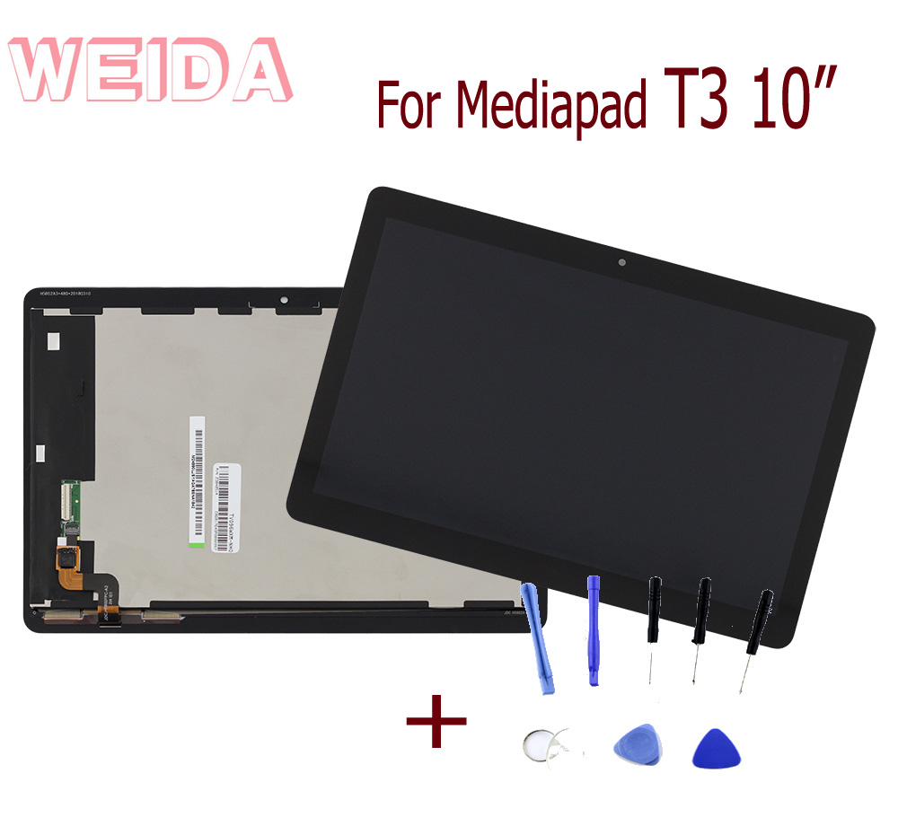 WEIDA LCD Replacment 9.6 For Huawei MediaPad T3 10 WIFI LCD Display Touch Screen Assembly AGS W09 AGS L03 AGS L09