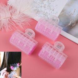 3PC DIY Pink Hairdressing Maker Hair Curler Styling Tool For 6*6.5*3cm Plastic Hair Roller Clips Self Grip Hair Curler Big Loop