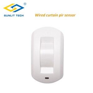 Image 1 - Проводной занавес PIR детектор занавес потолок окно пассивный инфракрасный детектор движения для дома охранная сигнализация система датчик движения