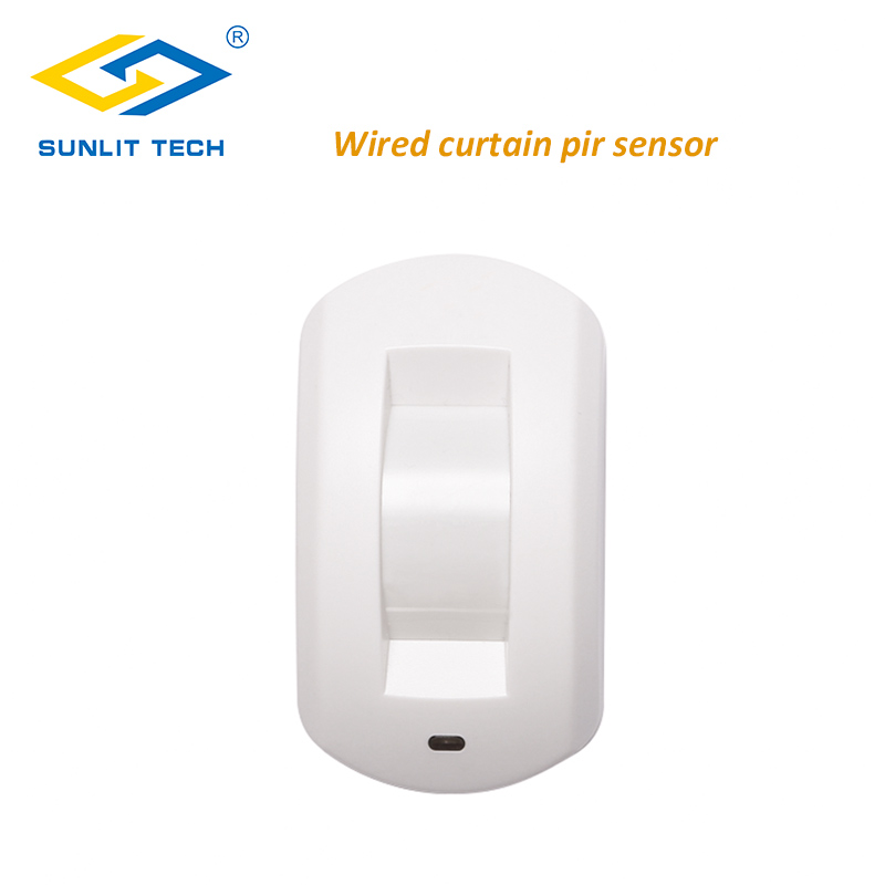 Wired Curtain PIR Detector Curtain Ceiling Window Passive Infrared Motion Detector For Home Burglar Alarm System Motion Sensor