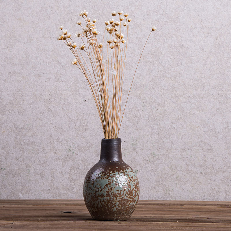 Classic ceramic vase Retro nostalgia Dried flower hydroponic vases Tabletop small vase Crafts Pen container home decoration in Vases from Home Garden