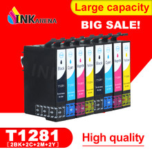 2 SET 1281 Ink Cartridge For EPSON Stylus S22 SX125 SX130 SX230 SX235W SX420W SX425W SX430W SX435W Printer Full With Ink(China)