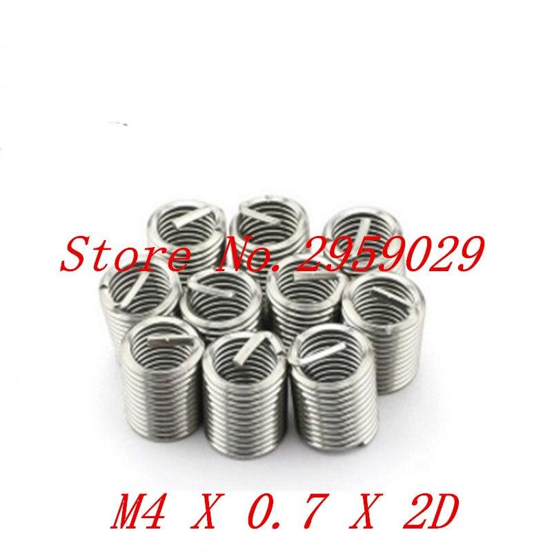 100 шт. М4 * 2Д М4 вставить провод потока из нержавеющей стали М4 винт втулка, втулка провода винт, резьба ремонт