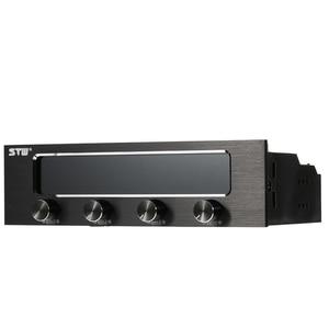 Image 3 - Sunshine tipway STW controlador de ventilador de 4 canales para PC, multifunción, controlador de ventilador, ajustador de Control de velocidad, Panel frontal de refrigeración LCD