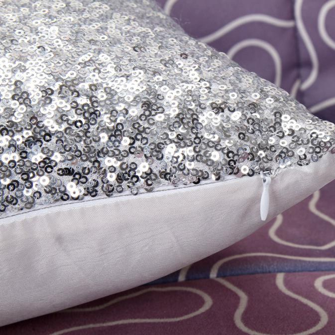 Aliexpress Buy Solid Color Glitter Silver Sequins Bling Throw Interesting Bling Decorative Pillows