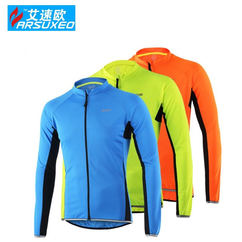 ARSUXEO Outdoor Sports Cycling Jersey Spring Summer motocross Bike Bicycle Long Sleeves MTB Clothing Shirts Wear