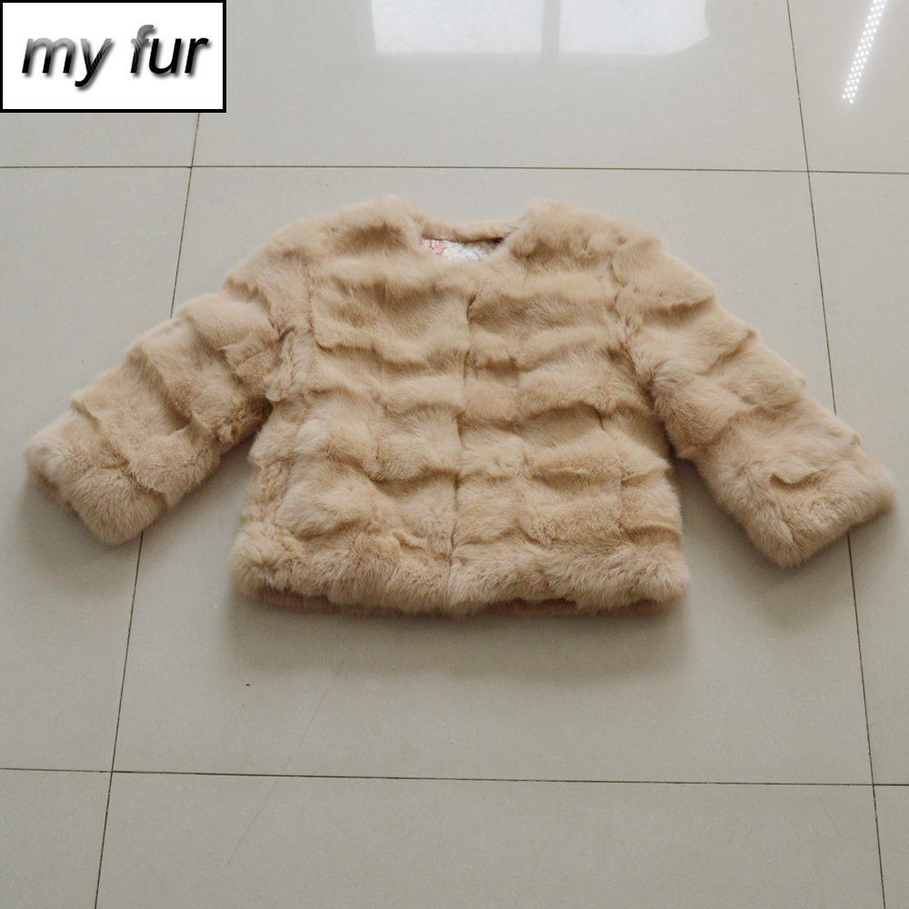 2019 Hot Sale Lady Real Rabbit Fur Jacket Warm Girl Real Genuine Rabbit Fur Coats 100% Real Natural Rabbit Fur Short Overcoat