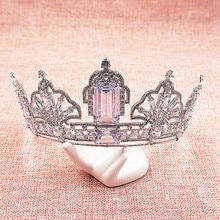 Luxury Cubic Zircon Tiara CZ Crown Bridal Headpiece Wedding Hair Accessories Diadem Jewelry Bijoux Cheveux Coroa Novia WIGO1062