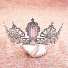 Luxury Cubic Zircon Tiara CZ Crown Bridal Headpiece Wedding Hair Accessories Diadem Jewelry Bijoux Cheveux Coroa Novia WIGO1062