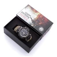 EDC Открытый выживания часы Multi-functional водостойкие 50 м Паракорд Браслет часы для мужчин для женщин Кемпинг пеший Туризм аварийное снаряжение