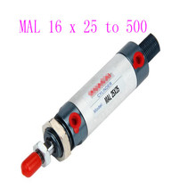 цены MAL 16mm Series  to 500mm Single Rod Double Acting Mini Pneumatic Air Cylinder
