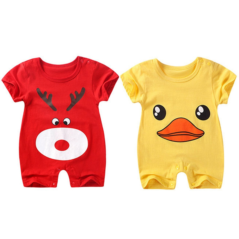 2018 New baby rompers Newborn Infant Baby Boy Girl Summer clothes Cute Cartoon Printed Romper Jumpsuit Climbing Clothes #Nxt
