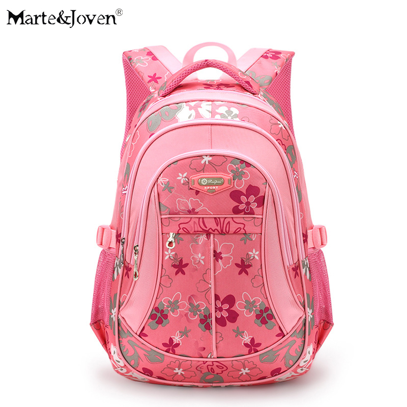 2017 Brand Design Flower Printing School Bags High Quality Student School Backpack For Children Lovely School Supplies Back Pack