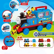 Thomas Slider Children Interactive Combination Train Gift Magnetic Illuminated Train Boy Girl Music Sound Christmas New Year Hol new injection molding magnetic thomas and friend children s toy train series farms freight transportation limited edition