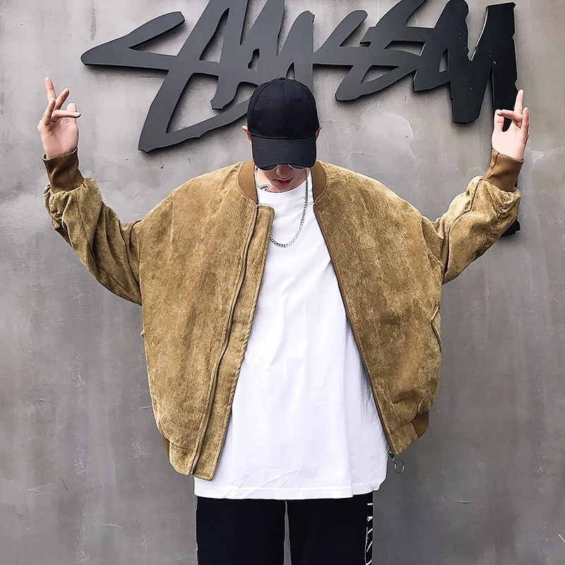 2018 nueva tendencia de moda para hombres prendas de vestir Casual negro/caqui PANA tela chaqueta bomber chaquetas sueltas de alta calidad abrigos M-XL 2018, zapatos de cuero de alta calidad para hombres, zapatos informales para hombres, zapatos de cuero, mocasines, zapatillas de deporte de moda