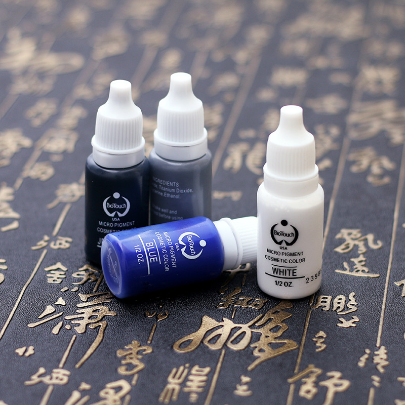 5pcs Eyebrow Tattoo ink Permanent Makeup Micro pigment Lasting Long 15ml /Bottle 23 Colors For Choose 12