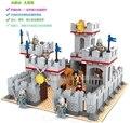 M27906 building block set compatible con Pasatiempos Educativo regalo Knights castle 033 3D de Construcción de Ladrillo Juguetes para Los Niños