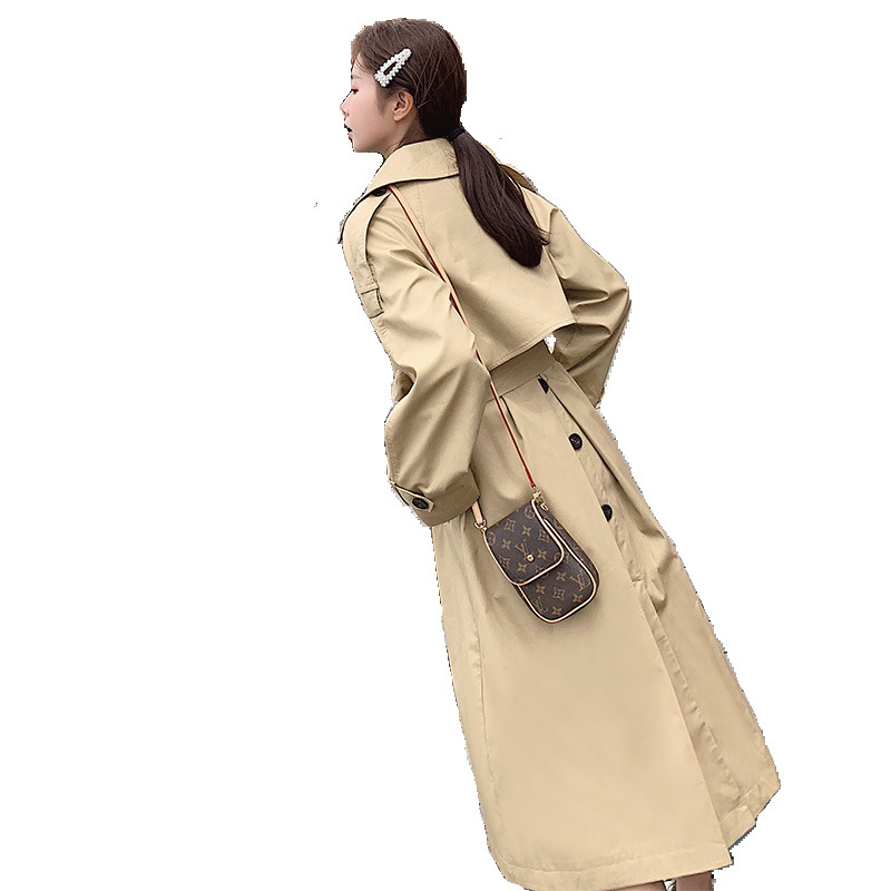 2019 New/Windshirt Medium And Long Recreational Long Knee Ladies Khaki