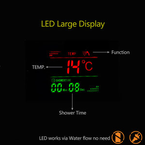 Image 4 - Suguword Bathroom Shower Panel Set Mixer Valve Faucet LED Rainfall Shower Manssage SPA With Temperature Display Shower System