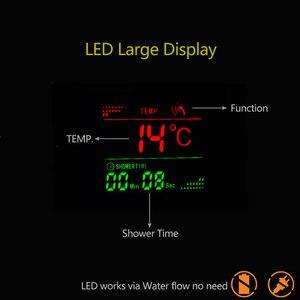 Image 4 - Suguword banyo duş paneli seti mikser vana musluk LED yağış duş Manssage SPA sıcaklık göstergesi duş sistemi