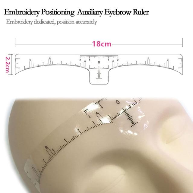 Disposable Eyebrow Ruler Stencils Sticker Template 10Pcs Eyebrow Permanent Makeup Balance Measure Eyebrow Beauty Tattoo Supply 4