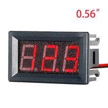 Voltmètre numérique EAFC DC 4.5V à 30V voltmètre numérique voltmètre rouge pour voiture de moto électrique 6V 12V