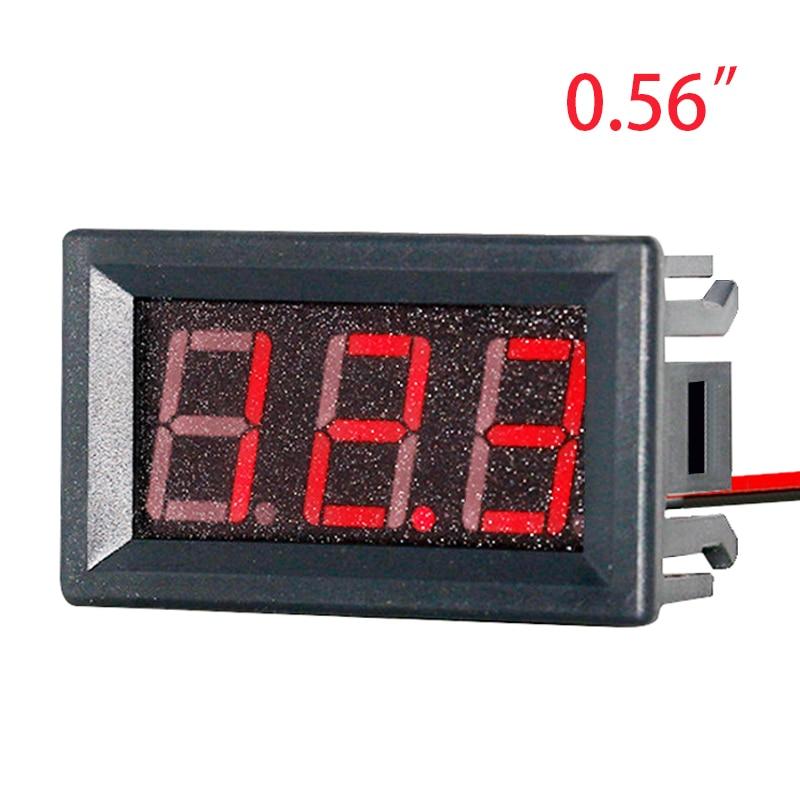 EAFC-voltímetro Digital de CC 4,5 V a 30V, voltímetro Digital, medidor de Panel de voltaje rojo para coche de motocicleta electromóvil 6V 12V