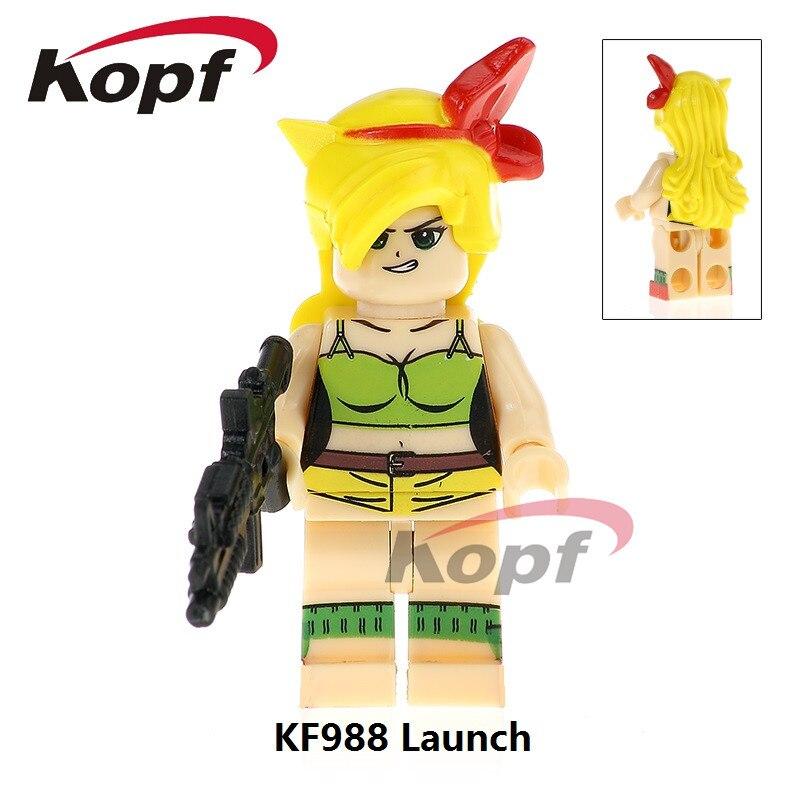 Single Sale Super Heroes Dragon Ball Z Figures Android 18 Launch Freiza Kid Goku Bricks Building Blocks Children Gift Toys KF988