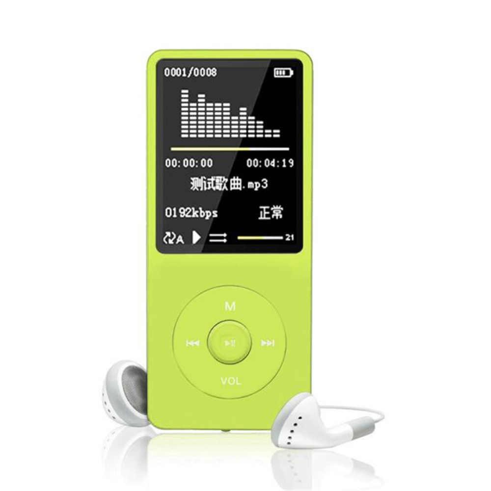 شحن مجاني Hifi 8GB 70 ساعة تشغيل MP4 ضياع الصوت مشغل موسيقى راديو FM مسجل TF بطاقة موضة مشغل موسيقى رقمي