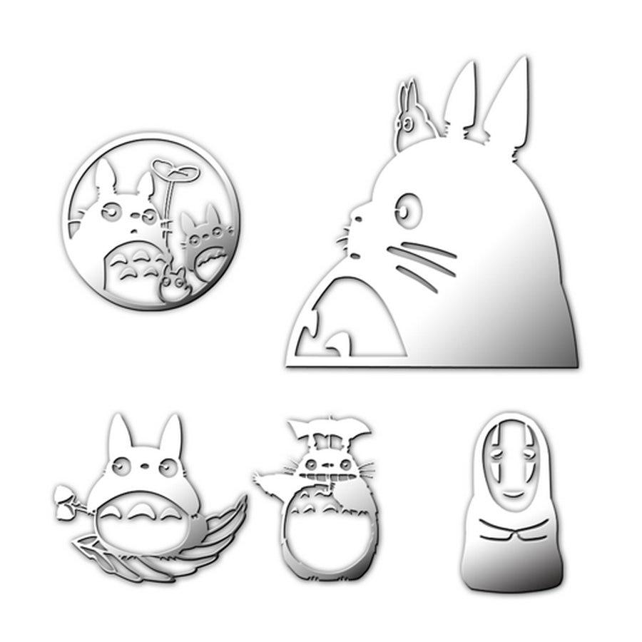 5pcs My Neighbor Totoro Cartoon Sticker Luxury Mobile Phone Laptop Sticker Car Motorcycle Decal DIY 3D Metal Stickers