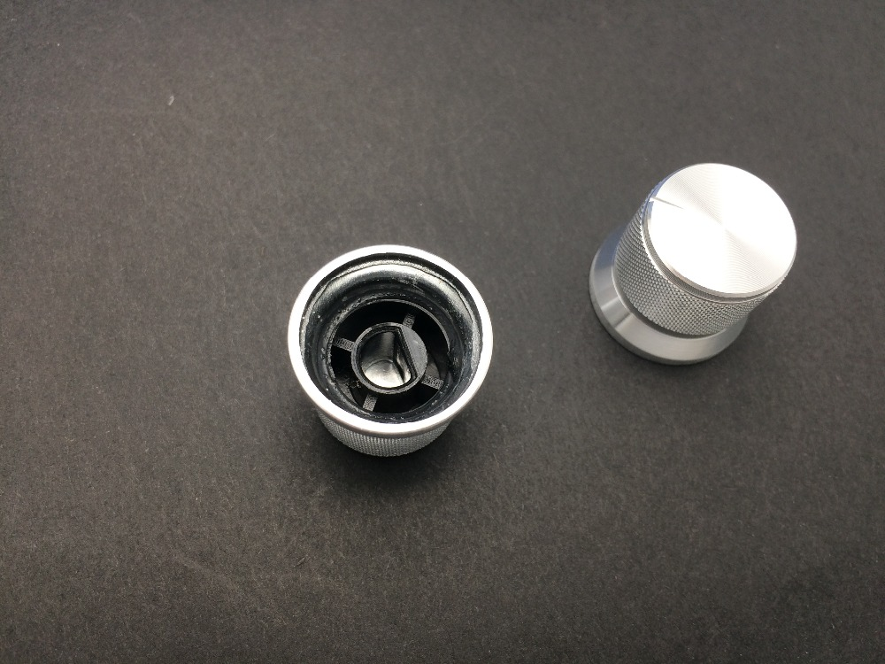 [VK] 20x17mm 20*17 20*17mm aluminum alloy knob Silver light hat type network type D half shaft hole