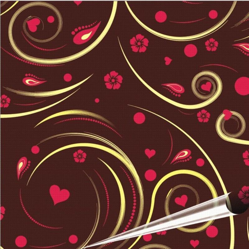 5 Sheet Chocolate Transfer Paper / Baking Mold Sheet / Cake  Decoration / Surrounding Edge Flower / ITALY Cuisines Alphabet