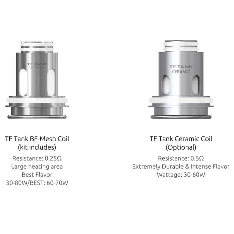 新株オリジナル SMOK TF タンク 6 ミリリットル TF アトマイザー tf タンク BF-メッシュコイルトップ充填吸う電子タバコモーフ気化器