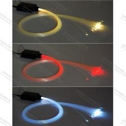 150 sztuki 2 m 0.75mm mini led dekoracyjne gwiazda sufit z włókna światłowodowe światła zestaw do oświetlenia
