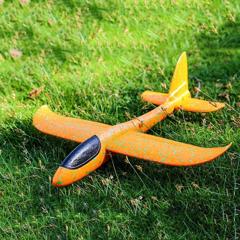 1 Pc  EPP Foam Hand Throw Airplane Toys Outdoor Launch Glider Plane Kids Gift Toy Free Fly Plane Puzzle Model 48CM