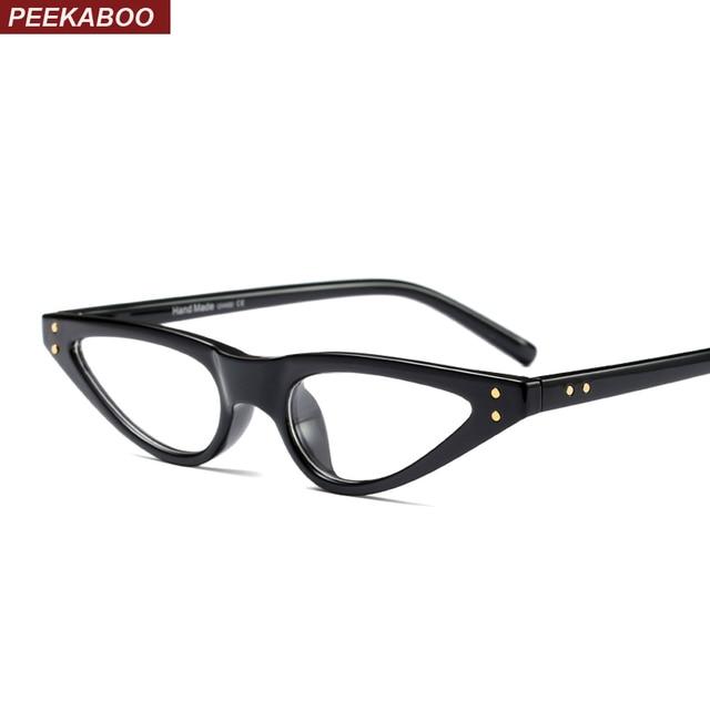 Peekaboo women cat eye glasses frame small retro vintage black 2018 ...