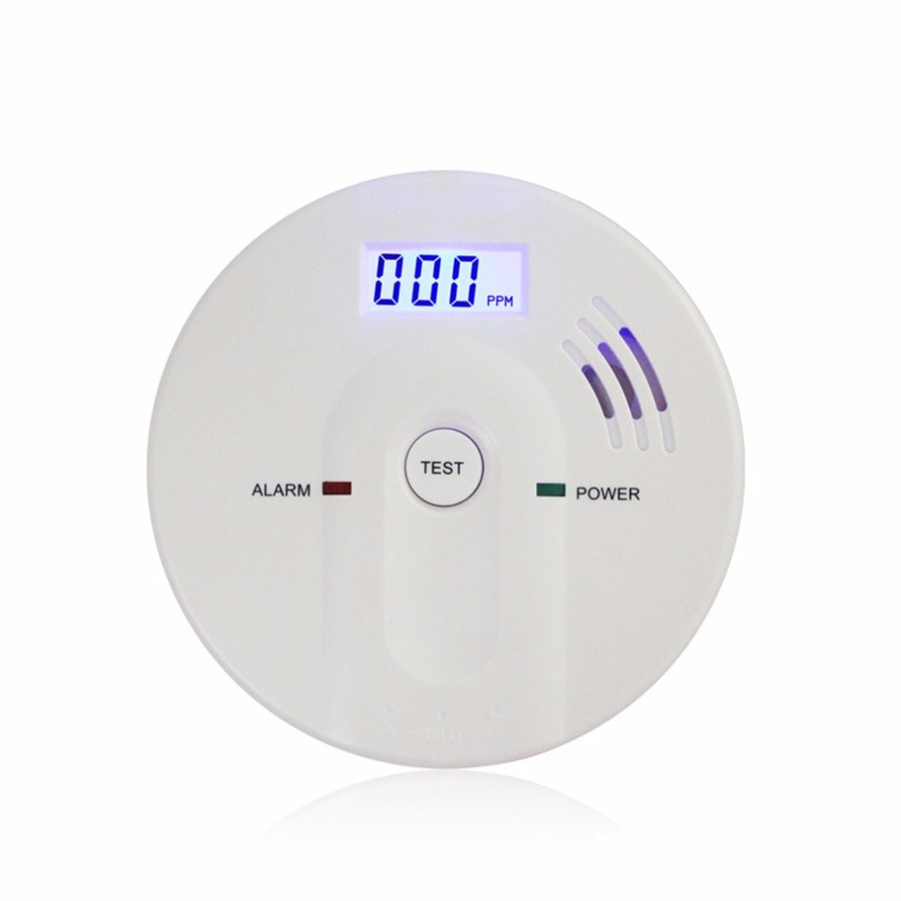 85dB Warning High Sensitive LCD Display 808 CO Gas Sensor Carbon Monoxide Poisoning Alarm Detector For Home Security