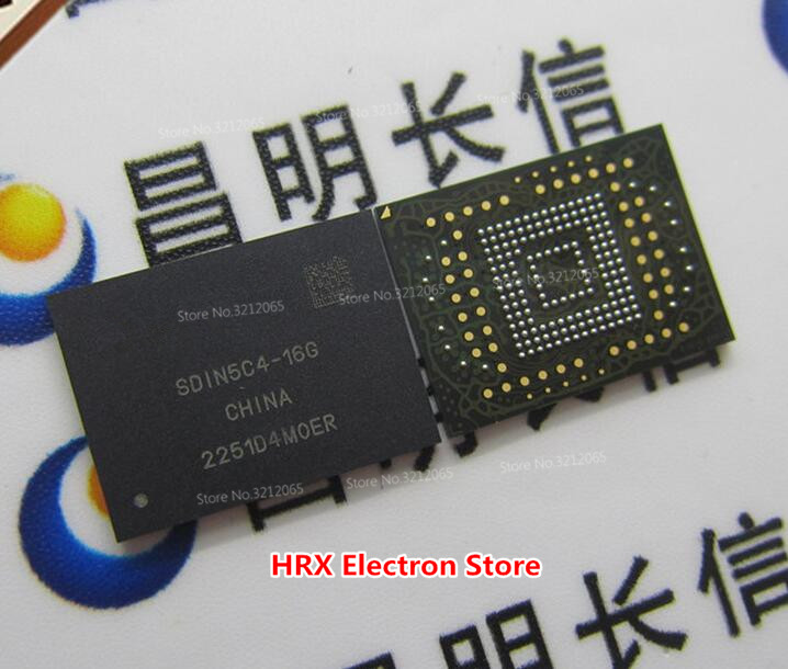 100% Yeni Orijinal SDIN5C4-16G BGA EMMC SDIN5C4 16G100% Yeni Orijinal SDIN5C4-16G BGA EMMC SDIN5C4 16G