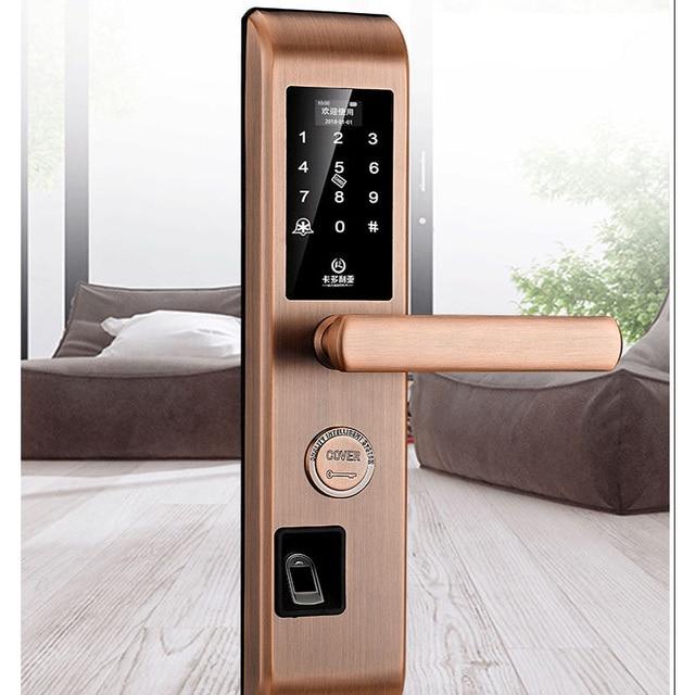 US $132 37 39% OFF|Fingerprint lock cipher intelligent lock proxy security  door, electronic home lock card, Doria factory direct sale -in Locks from