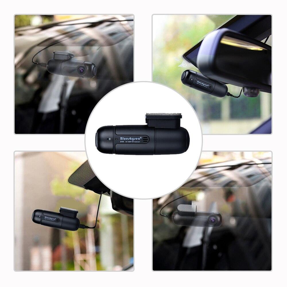 Blueskysea B1W Dash caméra de tableau de bord Full HD 1080 P Mini WiFi Dash Cam 360 Degrés Tournent Parking Mode IMX323 Voiture Tableau de Bord enregistreur - 5