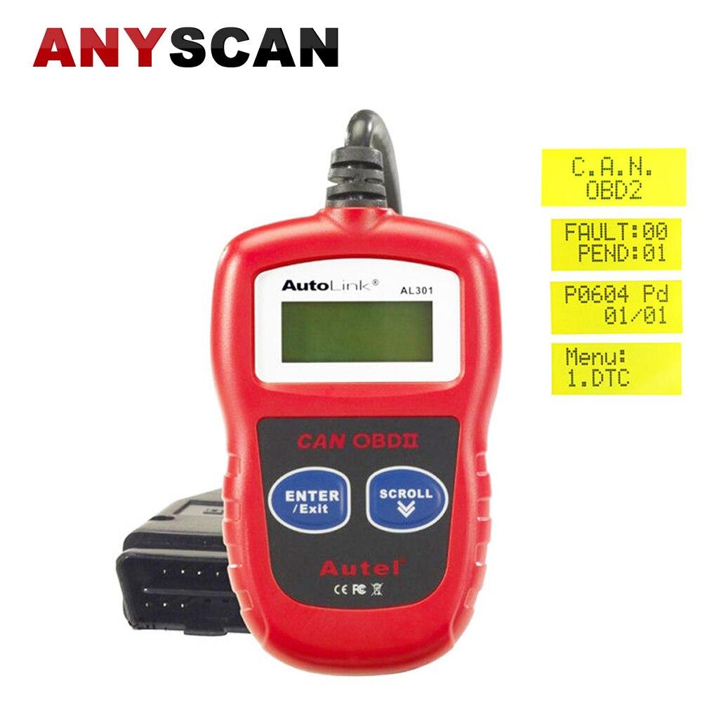 Original Autel AL301 AutoLink OBD2 EOBD Auto Car CAN Code Reader Diagnostic Tool