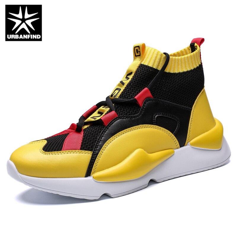Urbanfind De Moda gray Altas Casuais Homens Sapatilhas Sapato Sapatos Mens Sapatas Zapatos Outono Black Inverno yellow Produtos Superiores 7WcrO7wq4B
