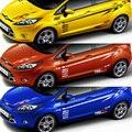Wrc rally sport rs st car corpo inteiro cinto linha de adesivos e decalques do carro-styling acessórios de decoração para ford fiesta